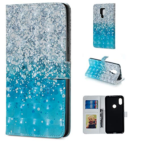 BestCatgift Mate 20 X PU Leather Folio Flip Cover [3D Relief Pattern ][Kickstand] für Huawei Mate 20 X Magnetic Wallet Hülle - Sea Sand Womens Sea Mate