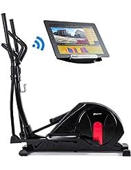 Hop-Sport Elliptical Crosstrainer HS-55E Ergometer Bluetooth 4.0, Smartphone Steuerung, 32 Widerstandsstufen, HRC, BMI, WATT Programm