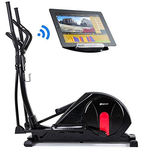 Hop-Sport Crosstrainer HS-55E Elite Elliptical Ergometer mit Bluetooth 4.0 Smartphone Steuerung