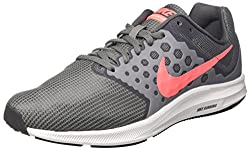 Nike Women's Wmns Downshifter 7 Wide Low-top Sneakers, Grey (Cool Greylava Glowdark Greywhite), 6.5 Uk