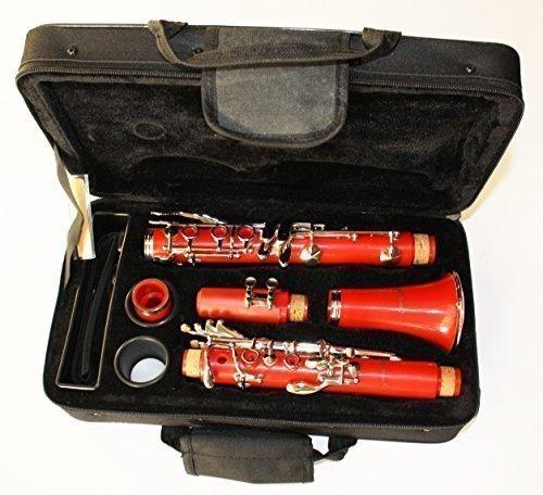 Cherrystone 4260180885811 tolle Bb Klarinette mit Koffer/Zubehör rot