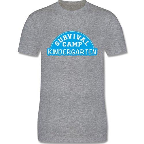 Sonstige Berufe - Survival Camp Kindergarten - Herren Premium T-Shirt Grau Meliert