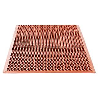 Miltex 16010 Bodenmatte Yoga Hygien, 90 x 150 cm, NBR, Rot