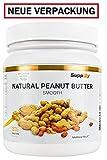 Supplify Natural Erdnussbutter Peanut Butter Crunchy, 1er Pack (1 x 1 kg) (Crunchy)