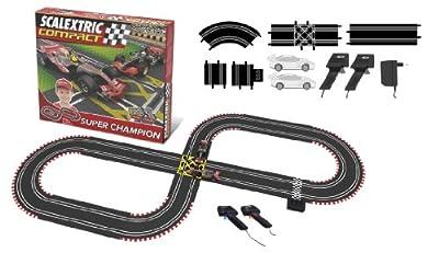 Scalextric Compact - Circuito Super Champion CC3D Compacto: escala reducida 1:43 - ocupa menos (C10124S500) por Fábrica de Juguetes