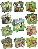 Unbekannt 1 Set: Servietten - mit verschiedenen Tier Motiven - Serviette Tischserviette Papier Party - Tiere Tierservietten / Waldtiere Bauernhof