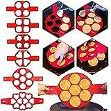6 Unids/Set Pancake Egg Circle Making Machine Silicona Antiadherente Pancake Cheese Egg Pan Pan Flip Egg Mold Accesorios Para Hornear Cocina