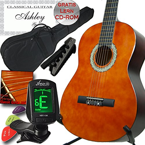 ashley-left-handed-users-students-and-beginners-classical-concert-guitar-set-3-4-case-tuners-capos-s