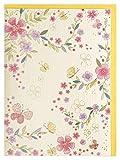 Grußkarte Blanko Romantischer Blumengarten