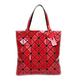 La piegatura Quilted Borse donna diamanti laser geometria estate sacchetti femmina Plaid Top-Handle Bag Fake designer borsette rosso sacchetti Top-Handle 32.5x32.5cm