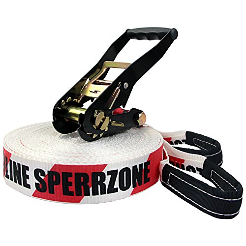 "Alpidex Slackline-Set ""Sperrzone"", 25 m lang, 5 cm breit"