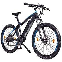 """NCM Moscow 48V 27,5"""" Bicicleta eléctrica de montaña, e-Bike, 250W motor trasero Das-Kit, batería extraíble 48V 13Ah Li-ion, frenos de disco mecánicos Tektro, cambio de marchas Shimano, Cubiertas 2.25'' Schwalbe (Negro)"""