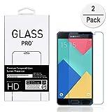 Samsung Galaxy A5(2016) Schutzfolie (2-Pack),BLKJ Samsung Galaxy A5(2016) A510 Panzerglas Displayschutzfolie Kristallklare Gehärtete Glas Schutzfolie (Ultradünn 0,3mm/9H Härtegrad) (A5(2016))