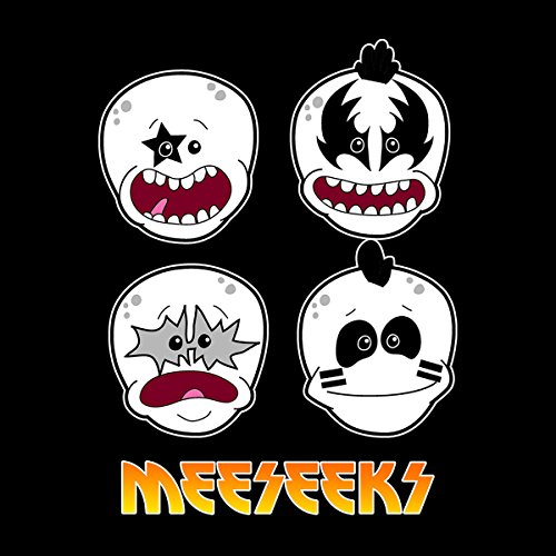 Meeseeks Kiss Faces Rick And Morty Men's Vest Black