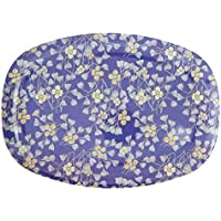Rice Melamin Teller Oval Flower Fan Blumen Muster