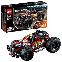 LEGO 42073 Technic BASH Racing Car Toy with Powerful Pull-Back Motor, High-Speed Action Vehicles Building Set,