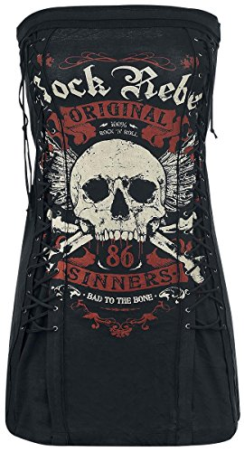 Rock Rebel by EMP Original Sinners Top a fascia donna nero S