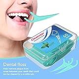Fil Dentaire LuckyFine 60 Pcs Porte-fil Dentaire Interdentaires Flosser Fil Dentaire Sticks Jetable- Parfum Frais de Menthe