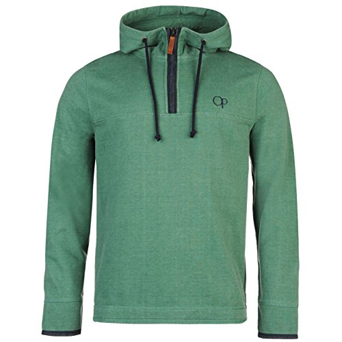 ocean-pacific-hombre-pique-sueter-manga-larga-capucha-casual-top-ropa-sudadera-verde-medium
