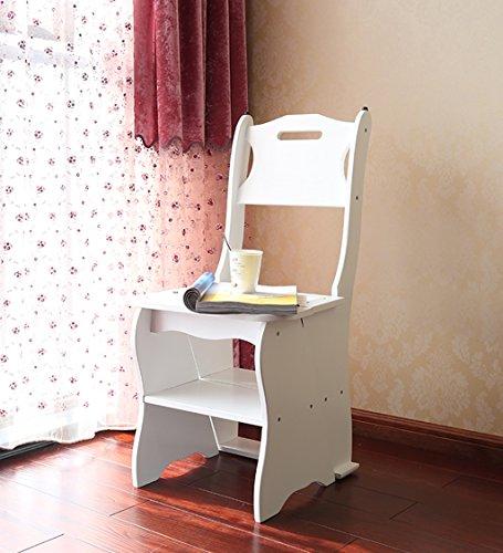 CAIJUN Chaises Sièges Escalier Arrière Tabouret De 4 Étages Plier Étagère Hauteur 86cm, 3 Couleurs Optionnelles Chair Ladder (Couleur : A)
