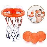 SHUNDATONG Spaß Basketball Hoop & Balls Spielset für kleine Jungen & Mädchen | Badewanne Schießen Spiel für Kinder & Kleinkinder | Saugnäpfe, die auf jeder ebenen Oberfläche haften + 3 Bälle enthalten