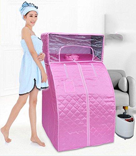 Z&HX-Personal Spa Sauna, Gesichts-Sauna, tragbare faltbare Sauna, Indoor-Infrarot-Sauna , pink