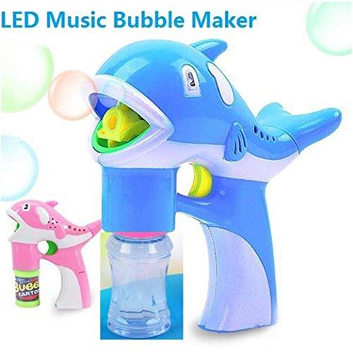 Bubble Toys, Toamen Cool LED Dolphin Music Lamp Light Cartoon Cute Animal Automatic Soap Water Toys, Random Color