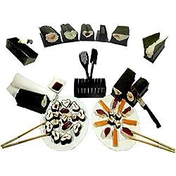Innova - Kit sushis HDMI, kit per sushi Makis, 12 pezzi, con rullo per makis [+ guida di ricette e istruzioni esplicative per la spedizione [lingua italiana non garantita]
