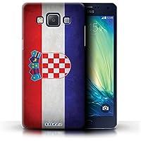 Stuff4 Hülle / Hülle für Samsung Galaxy A5/A500 / Kroatien/Kroatisch Muster / Flagge Kollektion