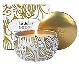 LA Jolie Muse Candele profumate Regalo di Natale Vaniglia & Cocco 100% Cera di soia Aromaterapia Tin da Viaggio 45 Ore