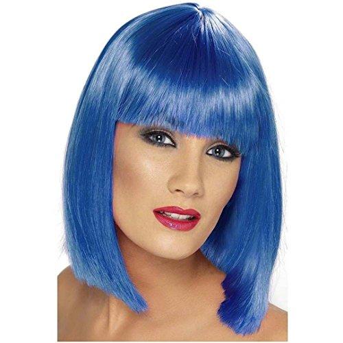 Smiffy's Peluca Corta Colores Azul
