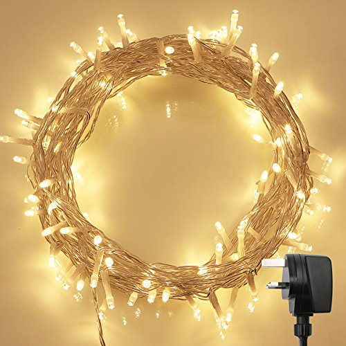 100-led-indoor-fairy-lights-w-remote-timer-on-36ft-clear-string-8-modes-dimmable-low-voltage-plug-wa