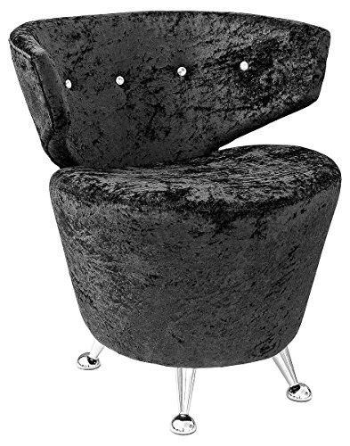 Febland Cordia Leisure Chair, Fabric, Black, 65x75x78 cm