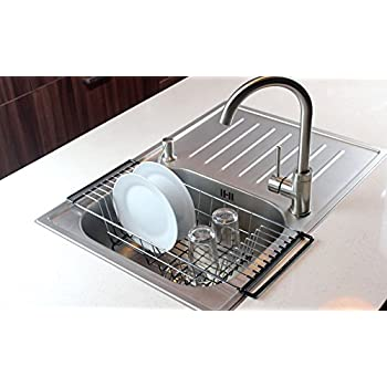 in sink dish rack the sink kitchen dish drainer rack durable chrome 30437