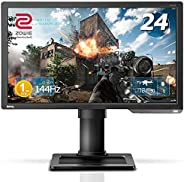 BenQ ZOWIE XL2411P 24 Inch 144Hz Esports Gaming Monitor | 1080P 1ms | Black eQualizer & Color Vibrance for