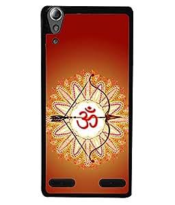 PrintVisa Designer Back Case Cover for Lenovo A6000 :: Lenovo A6000 Plus :: Lenovo A6000+ (Power Shape Flower Abstract Religion Ohm Illustration)