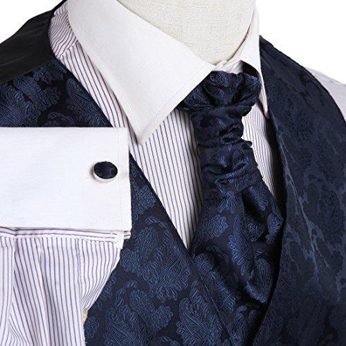 YGB1B03 Multi Paisleys Mens Geschenke Westen Manschettenkn?pfe Taschentuch ??Ascot Krawatte Set Von Y&G VS2020-Blau