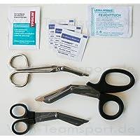 Notfallschere & Verbandschere 18,5 cm + 2 Stück 14,5 cm im 3er Set PLUS Hygieneset preisvergleich bei billige-tabletten.eu