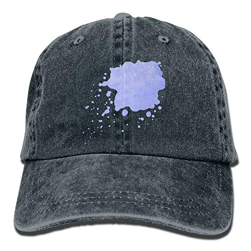 CrownLiny Men's Women's Cap,World Map Denim Fabric Hat for Male Girl Unisex