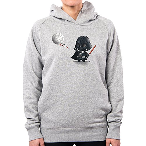 PacDesign Hoodie Damen Lil Sith Graphiti Darth Vader Fener Star Wars Lc0006a, S, Lightgrey