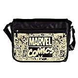Elbenwald Marvel Comics College Tasche 41x33x11cm schwarz beige