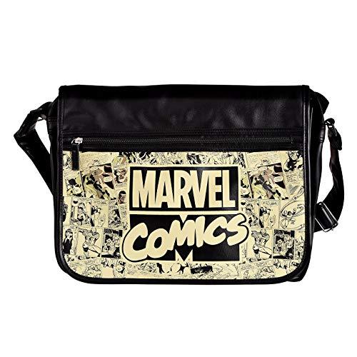 Elbenwald Marvel Comics College Tasche 41x33x11cm schwarz beige -