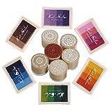 Rainbow Craft doigt Tampons encreurs Fleur timbres 24couleurs DIY pour tampon en caoutchouc DIY Scrapbooking et décoration de fabrication de cartes 6 ink pad with 6 stamp