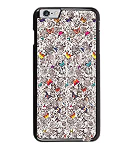 PrintDhaba Butterflies D-2040 Back Case Cover for APPLE IPHONE 6 (Multi-Coloured)