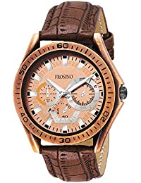 FROSINO Analogue Bronze Dial Men's Watch - FRAC061802