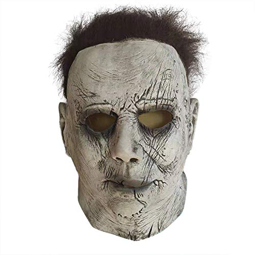 Jnzr Realistische blutige Maske, Halloween Cosplay Maske, Halloween Teufel Kostüm Maske Latex Kopfbedeckung für Halloween Party - Einfach Teufel Kostüm Makeup