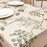 Funda para mesa rectangular algodón y línea decoración del hogar mantel para comedor sala de estar