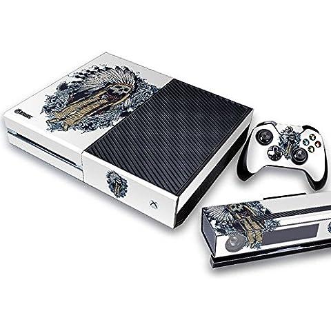Pandaren® pieno sticker della pelle skin per le Xbox One console x 1 e controller x 2 e kinect x 1(Capo indiano)