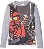 Lego Wear Jungen T-Shirt Lego Boy Ninjago TEO 613-T-Shirt, Grau (Grey Melange 924), 128
