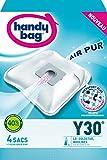 Handy Bag - Y30 - 4 Sacs Aspirateurs, pour Aspirateurs LG/Goldstar et Moulinex, Filtre Anti-Allergène, Filtre Moteur